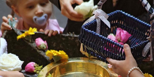 Tauf-Gottesdienst, Taufbecken